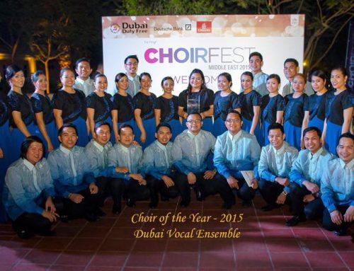 Dubai Vocal Ensemble bagged Choir of the Year award at the Choirfest Middle East 2015