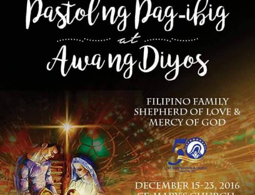 Announcement: Simbang Gabi Dec 20 2016